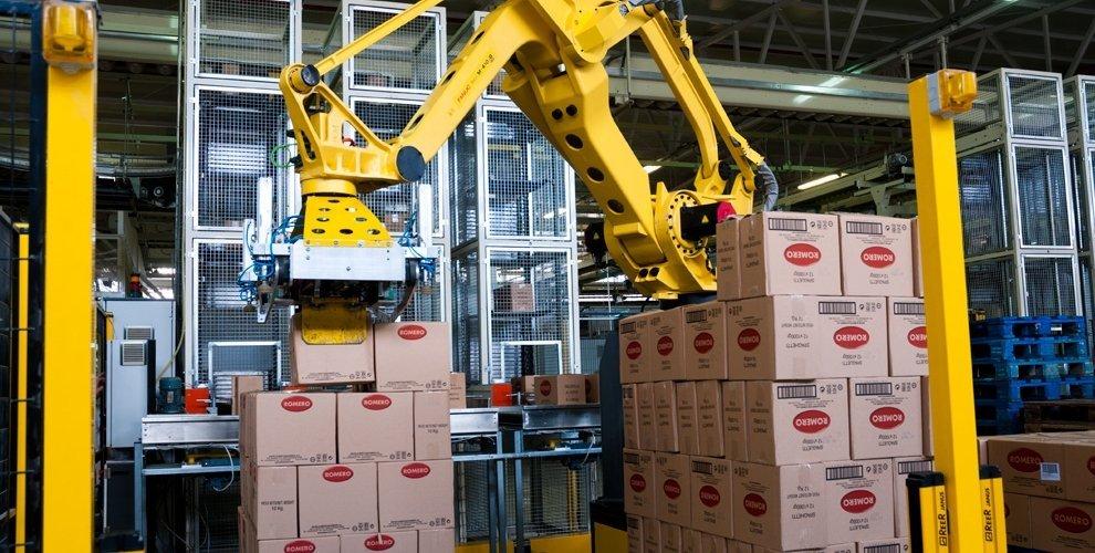 12. Robot paletizador de cajas