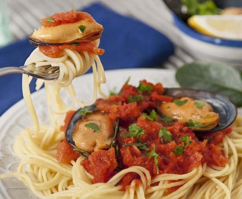 Receta Spaguetti y mejillones Pastas Romero